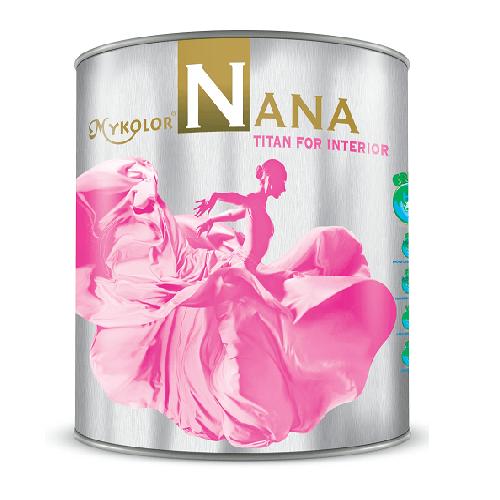 Mykolor Nana Titan For Interior-Sơn nội thất bóng lau chùi hiệu quả