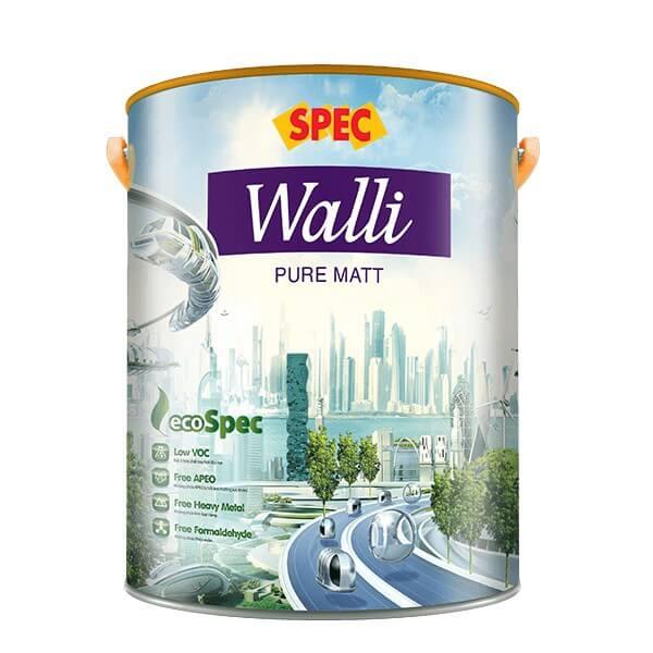 Sơn nước nội thất mờ cao cấp Spec Walli Pure Matt