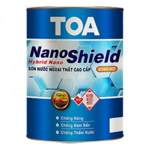 Sơn nước ngoại thất cao cấp TOA NanoShield bóng mờ