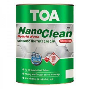 Sơn nước nội thất siêu bóng cao cấp TOA NanoClean