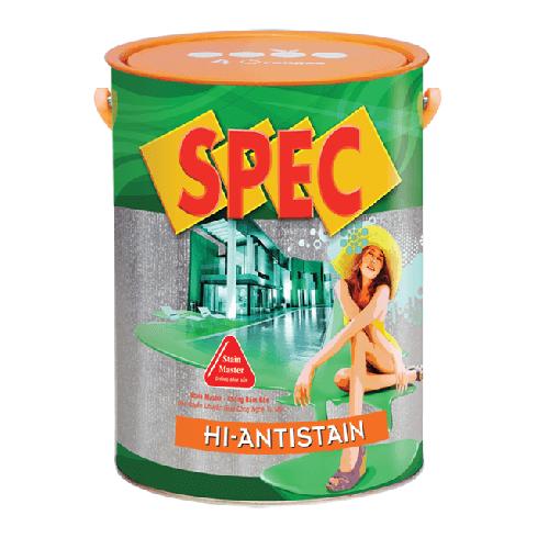 Sơn nước ngoại thất chống bám bẩn Spec Hello Hi-Antistain