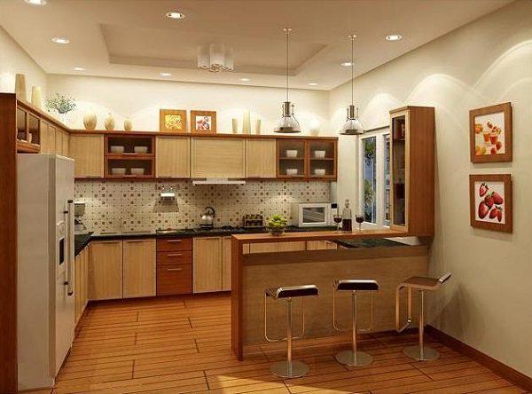 phong cách nhà bếp ấm cúng