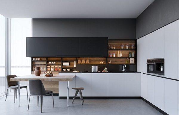 phong cách nhà bếp tối giản