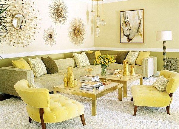 sơn nhà màu vàng kem