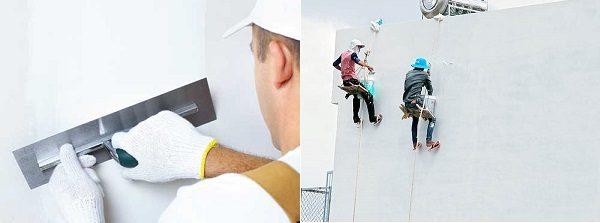 trét tường trong và ngoài nhà