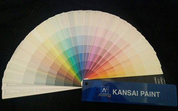 bảng màu sơn kansai paint