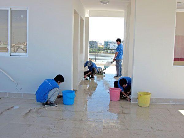 vệ sinh sau thi công