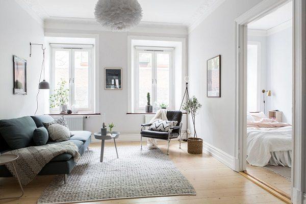 Sơn trần nhà đẹp màu trắng