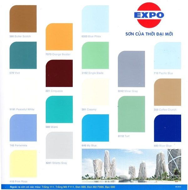 Bảng màu Expo