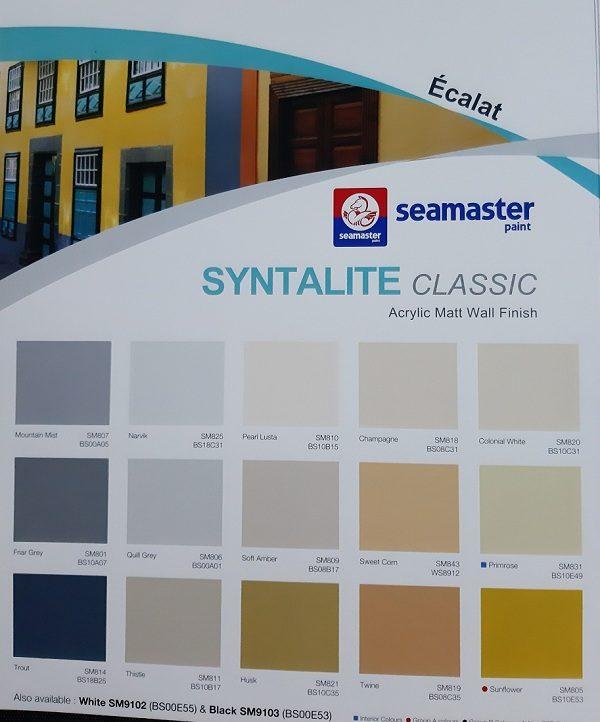 Bảng màu sắc Seamaster