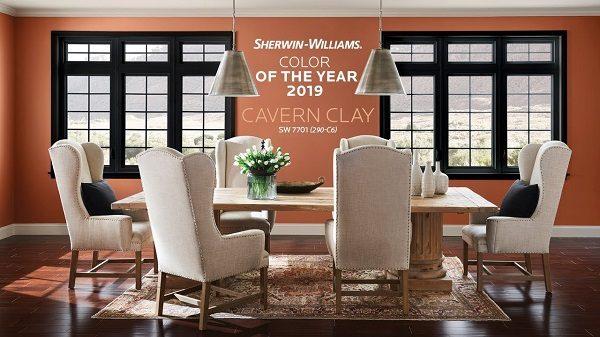 màu sơn nhà đẹp Cavern Clay
