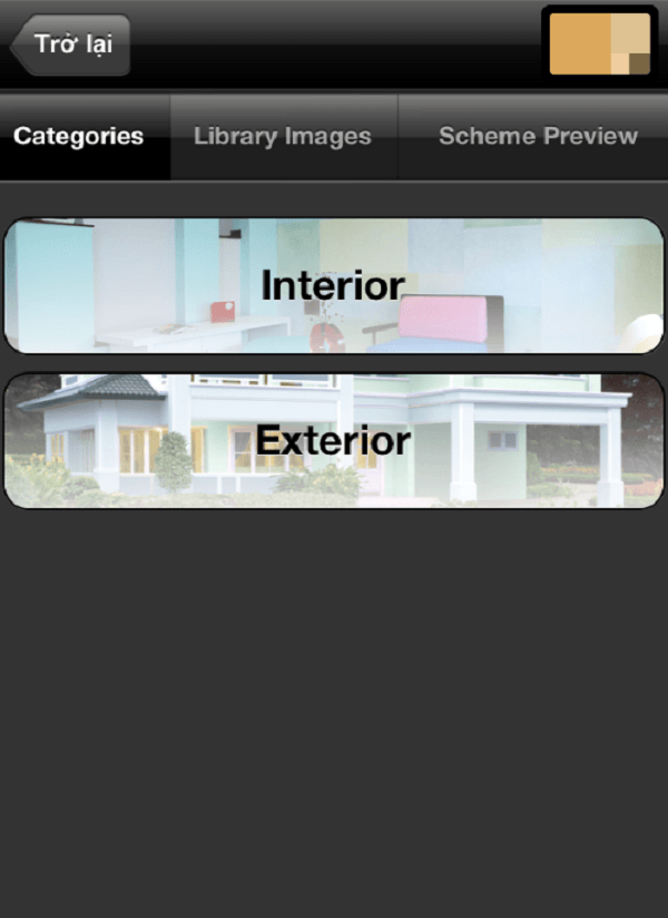 Phần mềm phối màu sơn nhà