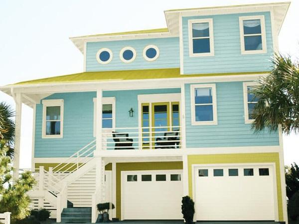 Phối màu sơn ngoại thất hợp kiến trúc