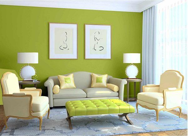 sơn mykolor màu xanh cốm hợp với nhiều món đồ trang trí