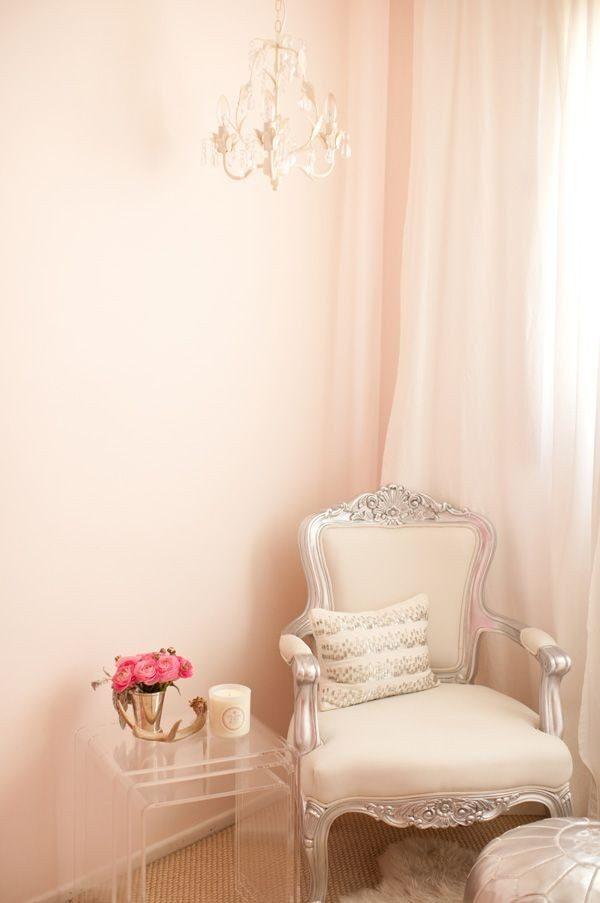 sơn nhà đẹp với màu hồng phấn