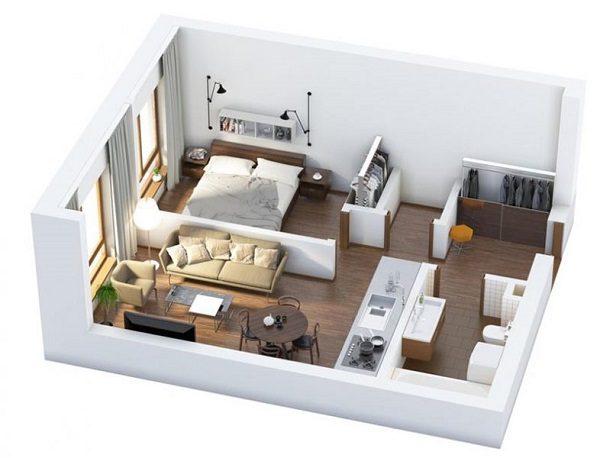 Thiết kế nội thất cho nhà đẹp diện tích 30m2