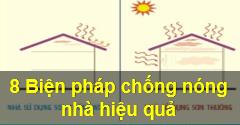 8 giải pháp chống nóng cho nhà hiệu quả nhất