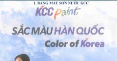Bảng màu sơn KCC chống rỉ, sơn 2 thành phần
