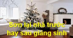 Nên sơn lại nhà trước hay sau Giáng Sinh? 1️⃣ VN