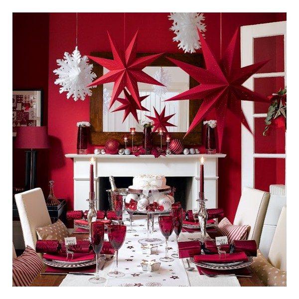 Sơn nhà màu đỏ cho lễ giáng sinh