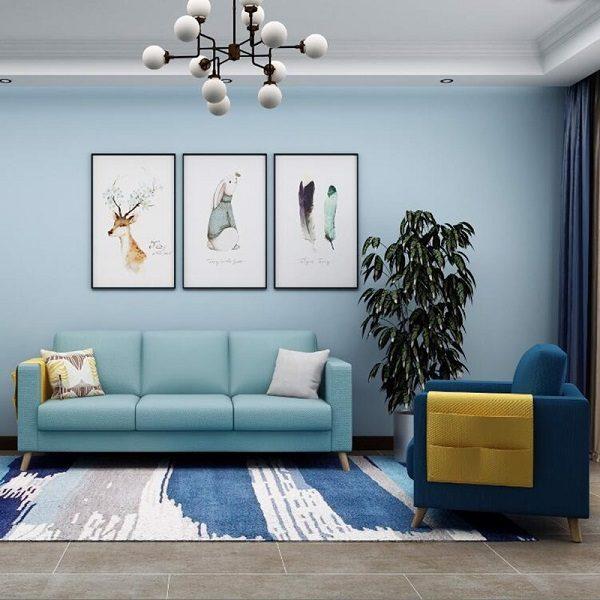 Sơn Mykolor màu xanh pastel cho phòng khách 4