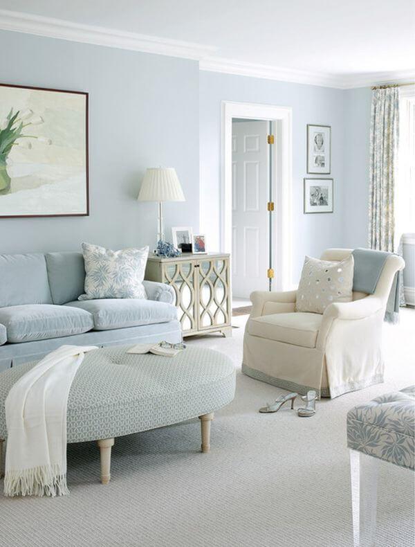 Sơn Mykolor màu xanh pastel cho phòng khách
