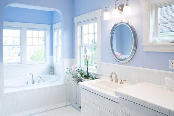 Sơn Mykolor màu xanh pastel cho phòng tắm 1