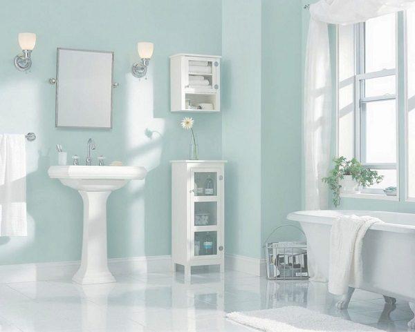 Sơn Mykolor màu xanh pastel cho phòng tắm