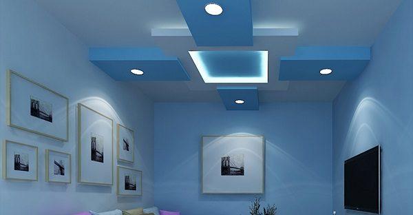 Sơn trần nhà màu xanh dương