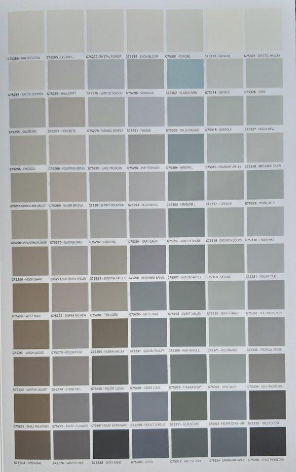 Bảng màu sơn chống phai màu Mykolor Grand Anti-UV For Ext
