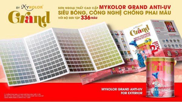 Bảng màu sơn chống phai màu Mykolor Grand Anti-UV