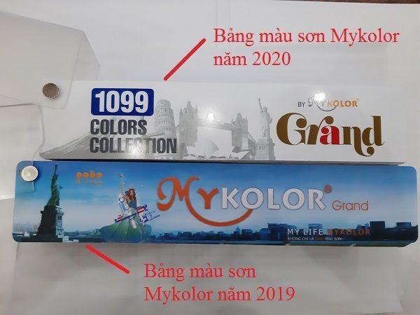 Bảng màu sơn Mykolor năm 2020 và năm 2019 có gì khác biệt