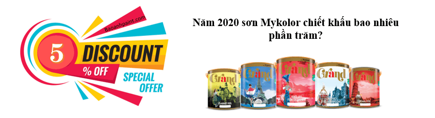 Năm 2020 sơn Mykolor chiết khấu bao nhiêu phần trăm?