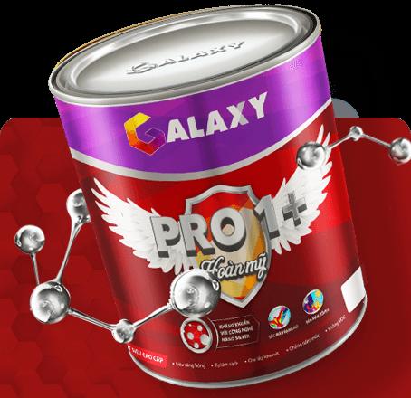 Sơn nội thất Galaxy Pro1+ Kháng khuẩn hoàn mỹ