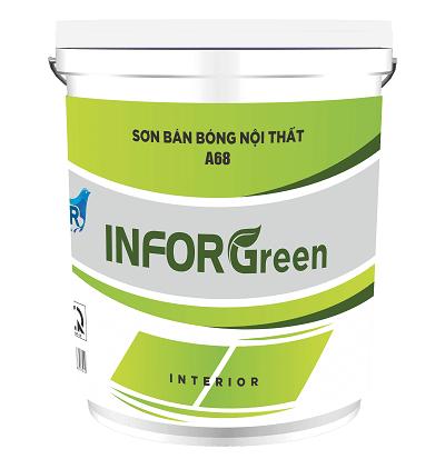 Sơn bán bóng nội thất InforGreen A68