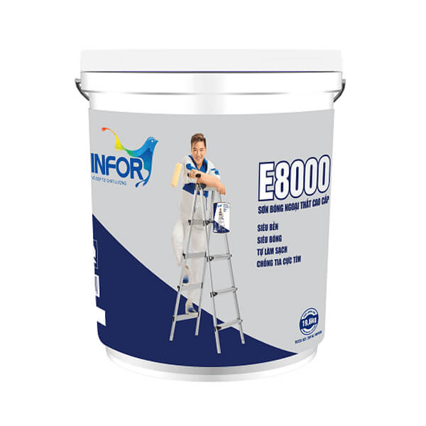 Sơn ngoại thất Infor E8000 bề mặt siêu bóng