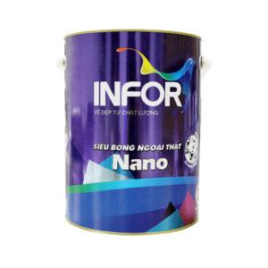 Sơn ngoại thất Infor NaNo siêu bóng bề mặt
