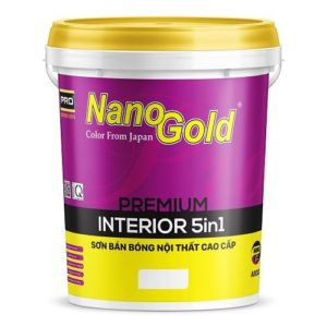 Sơn bán bóng nội thất NanoGold Interior 5IN1 A933