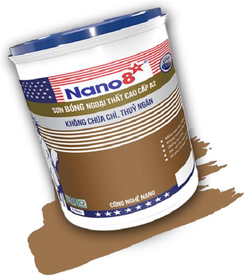Sơn bóng ngoại thất cao cấp Nano 8 A2