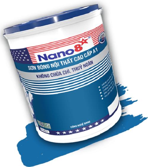 Sơn bóng nội thất cao cấp Nano 8 A1