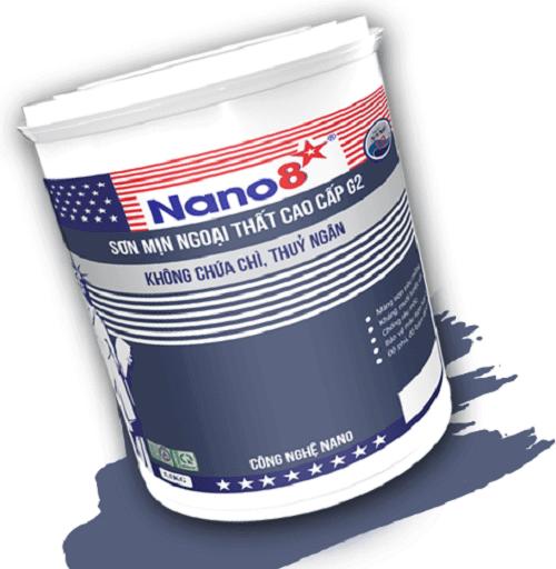 Sơn mịn ngoại thất cao cấp Nano 8 G2