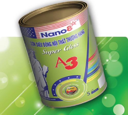 Sơn siêu bóng nội thất thượng hạng Nano 8 A3