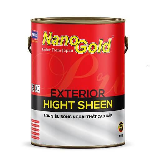 Sơn siêu bóng ngoại thất NanoGold Exterior Hight Sheen A918