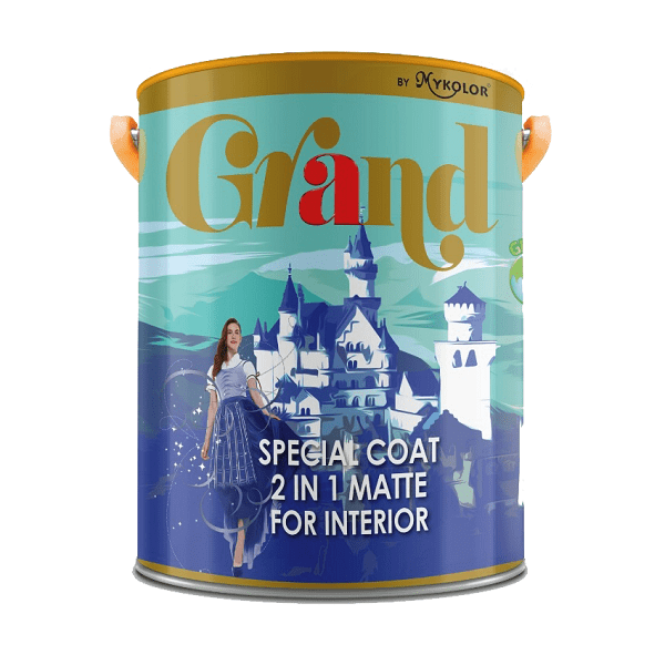 Sơn nước nội thất Mykolor Grand Special Coat 2in1 Matte For Interior 1️⃣