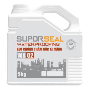Keo chống thấm gốc xi măng Suporseal Waterproofing WR02 1️⃣VN
