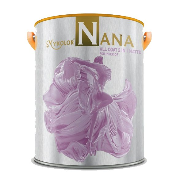 Sơn nước nội thất Mykolor Nana All Coat 2in1 Matte For Int giá rẻ 1️⃣VN