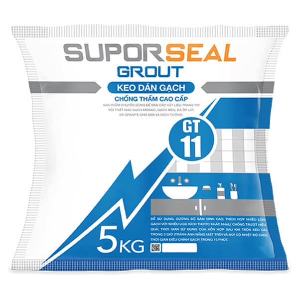 Keo dán gạch chống thấm cao cấp Suporseal Grout GT11