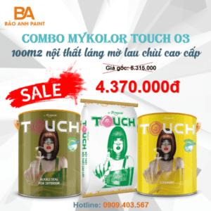 Combo Mykolor Touch 03 sơn nội thất láng mờ lau chùi hiệu quả 1️⃣VN