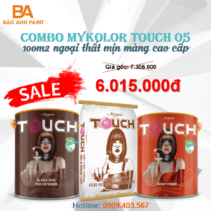 Combo Mykolor Touch 05 sơn ngoại thất mịn màng cao cấp 1️⃣VN