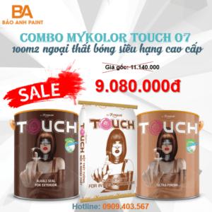 Combo Mykolor Touch 07 sơn ngoại thất bóng siêu hạng giá rẻ 1️⃣VN